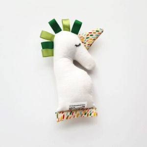 Green Baby Unicorn Rattle