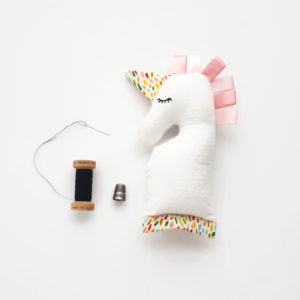 Pink Baby Unicorn Rattle