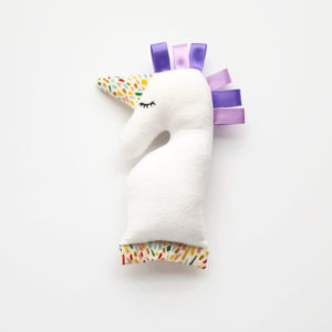 Lavender Baby Unicorn Rattle