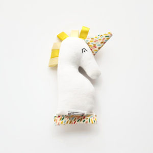 Yellow Baby Unicorn Rattle
